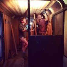 The Horse trailer Sauna under construction, amazing!